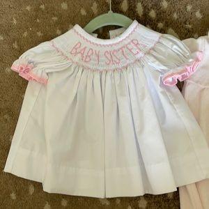 Baby Sister smocked dress